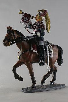 Трубач почетного караула Итальянских Кирасир (54 мм) Cavalry through the ages