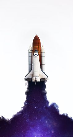Just a picture of the space shuttle. Ps Wallpaper, Wallpaper Space, Screen Wallpaper, Galaxy Wallpaper, Mobile Wallpaper, Astronaut Wallpaper, Space Artwork, Space Drawings, Space Illustration