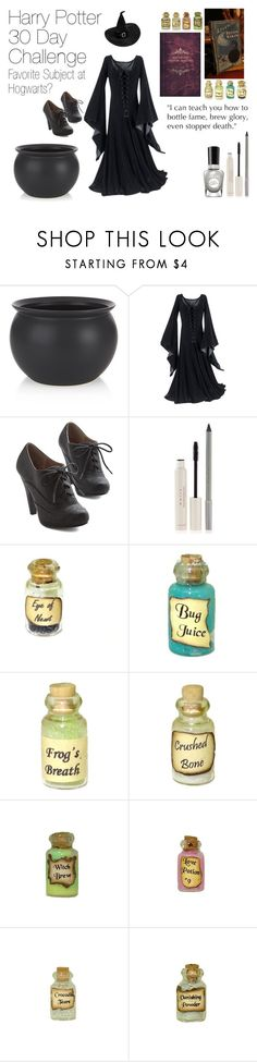 """""""Day 8 : Harry Potter 30 Day Challenge"""" by slytherin-archangel ❤ liked on Polyvore featuring Crate and Barrel, Mally, Sally Hansen and Dollhouse"""