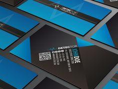 Professional Business Card Design | blue black