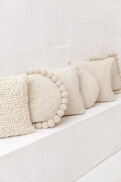 Pampa's original Pom Pom Cushion is an individual creation, handpicked from the community where it was designed and handwoven with Argentinian sheeps wool.