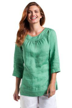 Women's Tops - Essentials Linen Tunic Top - EziBuy New Zealand