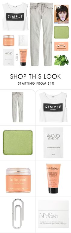 """""""WE WERE CALLING FOR EACH OTHER"""" by constellation-s ❤ liked on Polyvore featuring J.Crew, Monki, shu uemura, Sara Happ, philosophy, Bulgari and NARS Cosmetics"""