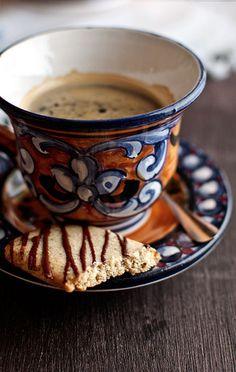 Ça fait vraiment du bien de se détendre et de savourer un café!
