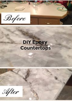 Made by Meggo: DIY Epoxy Countertops How to paint kitchen countertops affordab. - How To Paint Furniture - Made by Meggo: DIY Epoxy Countertops How to paint kitchen countertops affordable - Painting Kitchen Countertops, Epoxy Countertop, Kitchen Paint, Kitchen Redo, Kitchen Ideas, Kitchen Cabinets, Quartz Countertops, Cheap Kitchen Countertops, Painting Formica Countertops