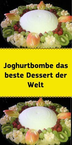 Yogurt bomb the best dessert in the world - NUR FÜR DICH - Nachspeisen Healthy Fruits, Healthy Desserts, Fun Desserts, Dessert Blog, Vanilla Sugar, Yogurt, Cabbage, Berries, Food And Drink