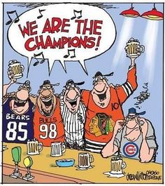 Chi town winners! Chicago Bears Bulls Sox & Blackhawks!