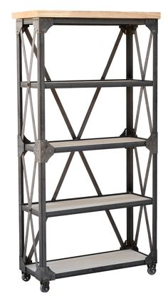 Joinery House | Ironworks Bookcase  Metal and Wood