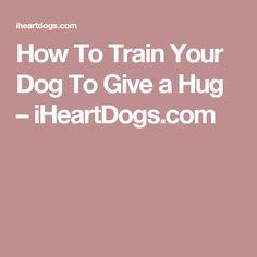 How To Train Your Dog To Give a Hug – iHeartDogs.com