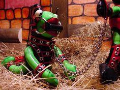Frosch-Pony in Wartestellung: Handmade by Verona Gummibaum