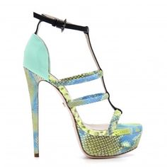 """The Ruthie Davis Madeline T-Strap in """"Bel Argus"""", now available on RUTHIEDAVIS.com."""