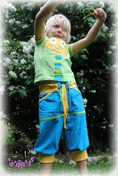 Schnittmuster für eine BLITZBUX Sommerhose - mit oder ohne Taschen gibt es viele Variationsmöglichkeiten
