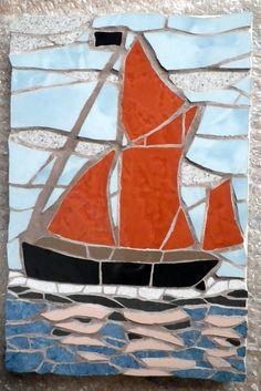 Mosaic Thames barge.