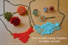 DIY scrapbook jewelry