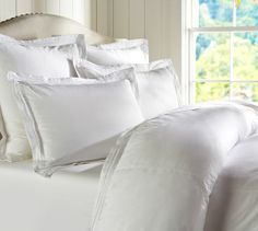 option for duvet Casual Cotton Duvet Cover, Full/Queen, White