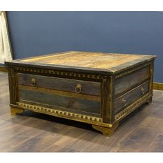 country roads alder wood square coffee table | square coffee