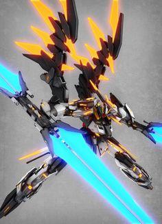 Gundam Art: Gundam Cursed Noir Artwork by [Updated [Updated Gundam Wing, Gundam Art, Arte Robot, Robot Art, Arte Sci Fi, Mecha Suit, Gundam Astray, Gundam Wallpapers, Accel World