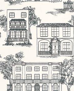 Hampstead Ink wallpaper by Little Greene