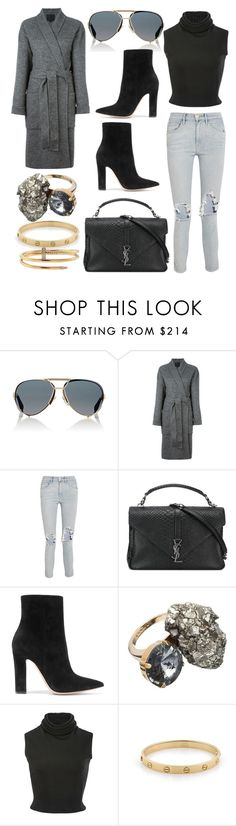 """Long coat"" by lucya-knight ❤ liked on Polyvore featuring Givenchy, Alexander Wang, 3x1, Yves Saint Laurent, Gianvito Rossi, Marni, Brandon Maxwell and Cartier"