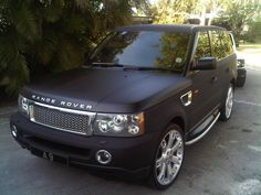 matte black range rover... I like how the silver is done