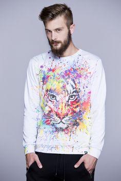 Tiger Sweatshrt  #meowhaus #tiger #print #hipster