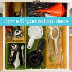Home Organization Ideas -- just in time for Spring Cleaning!