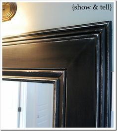 Great step-by-step for putting a frame around a plain wall mirror.