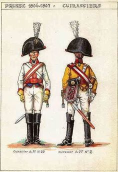 NAP- Prussia: Prussian Cuirassiers, by Christian Terrana. (Found in L'Armée Prusiennne 1806 – 1807, written by JJ Gilet.)