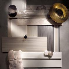 """Dress up è una collezione di rivestimenti per bagno, caratterizzata da una delicata texture grafica superficiale che """"muove"""" le pareti. La palette colore è caratterizzata da tinte neutre e delicate, in linea con le attuali colorazioni dell'arredo bagno, da utilizzare in abbinamento o singolarmente. La finitura è satinata e al tatto la superficie è particolarmente morbida e vellutata.  http://www.supergres.com/your-home/rivestimenti/item/50-dress-up"""