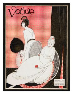 ⍌ Vintage Vogue ⍌ art and illustration for vogue magazine covers - January 1913  by George Wolfe Plank