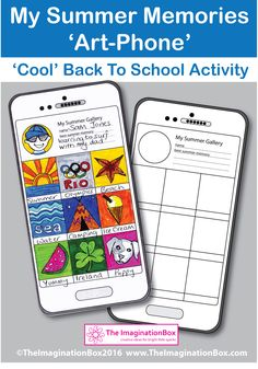 Have fun during the first week back, by engaging children creatively with this Instagram style, 'tech' mobile phone/tablet 'My Summer Memories' all about me, art and writing activity. Children can reflect, and capture a visual essence of their summer break using pictures and words. Teachers can get to know more about their new classroom individuals in an imaginative way.