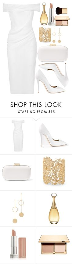 """""""Untitled #4402"""" by natalyasidunova ❤ liked on Polyvore featuring Cushnie Et Ochs, Giuseppe Zanotti, MICHAEL Michael Kors, Sole Society, Cloverpost, Christian Dior, Maybelline, Clarins and AERIN"""