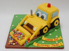 Cartoon Digger Cake construction