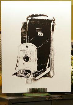 Retro polaroid screen print