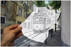 Pencil vs Reality - Where Do You Draw The Line? Incredible Optical Illusions By Ben Heine Pencil Camera, Camera Art, Pencil Art, Pencil Drawings, Art Drawings, Pencil Photo, Camera Drawing, Drawing Drawing, Creative Photography