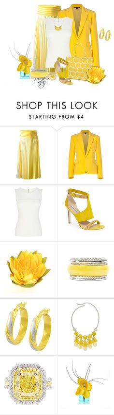 """You Are My Sunshine!"" by revccc ❤ liked on Polyvore featuring Christopher Kane, Ralph Lauren Collection, Karen Millen, Charles David, Fremada and Mixit"