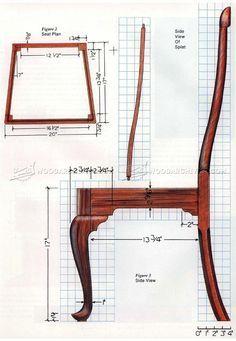 #1172 Queen Anne Side Chair Plans - Furniture Plans