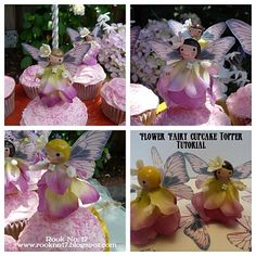 Wooden Peg Fairy Dolls (with instructions for how to make them in to cupcake picks and birthday candle holders)