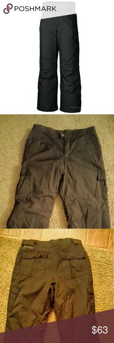 COLUMBIA SNOW WEAR PANTS COLUMBIA  🚨PRICE FIRM🚨 LIKE NEW WORN ONCE(OUTGREW BEFORE COULD GET USE OUT OF) COLOR BLACK SIZE XL YOUTH (18/20) (CAN FIT A SMALL WOMENS) HIGHLY WATER RESISTANT WARM BREATHABLE FABRIC ADJUSTABLE WAIST TO CUSTOMIZE FIT INTERNAL LEG GAITER REINFORCED CUFF GUARDS FOR DURABILITY SLOPE II INSULARED PANTS FABRIC 100% NYLON HC 3000 GREAT PANTS FOR SNOW! *NO TRADES NO MODELING NO RETURNS* Columbia Other