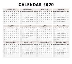20 printable 2020 calendar templates 5 best images of 2020 yearly calendar free … – Calendar Template İdeas.