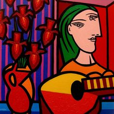 picasso paintings | To Picasso Painting by John Nolan - Homage To Picasso Fine Art Prints ...