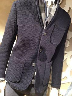 Meravigliosa giacca in lana cardata di Mauro Grifoni