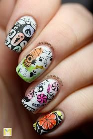 DIY halloween nails: DIY Halloween nail art : Coloring Outside the Lines is a Fine Art