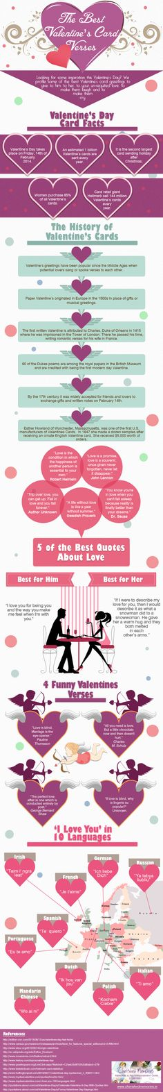 The Best Valentine's Day Card Verses #Infographics — Lightscap3s.com