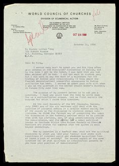 Letter from Paul Verghese to MLK | The Martin Luther King Jr. Center for Nonviolent Social Change