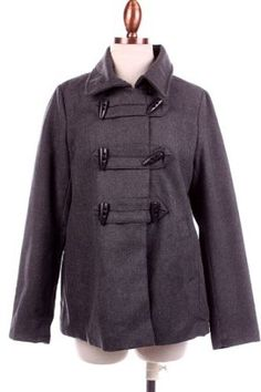 G2 Chic Double Breasted Toggle Peacoat(OW-COT,DGY-M) G2 Chic. $9.47