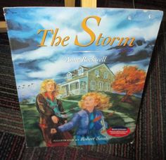 THE STORM BY ANNE ROCKWELL, CHILDREN'S PAPERBACK BOOK, GUC