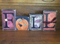 fall blocks | Fall Word Blocks. $27.00, via Etsy.