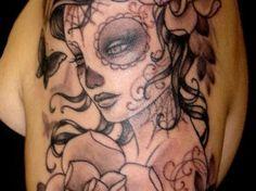 Beautiful Dia De Los Muertos Tattoo | Ruth Tattoo Ideas