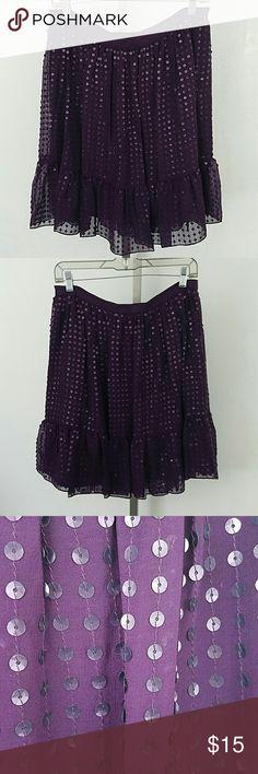"Nwt Purple DKNY Skirt Nwt Purple DKNY Skirt. In excellent condition. Size 10. Waist 32"" Length 20"" DKNY Skirts"